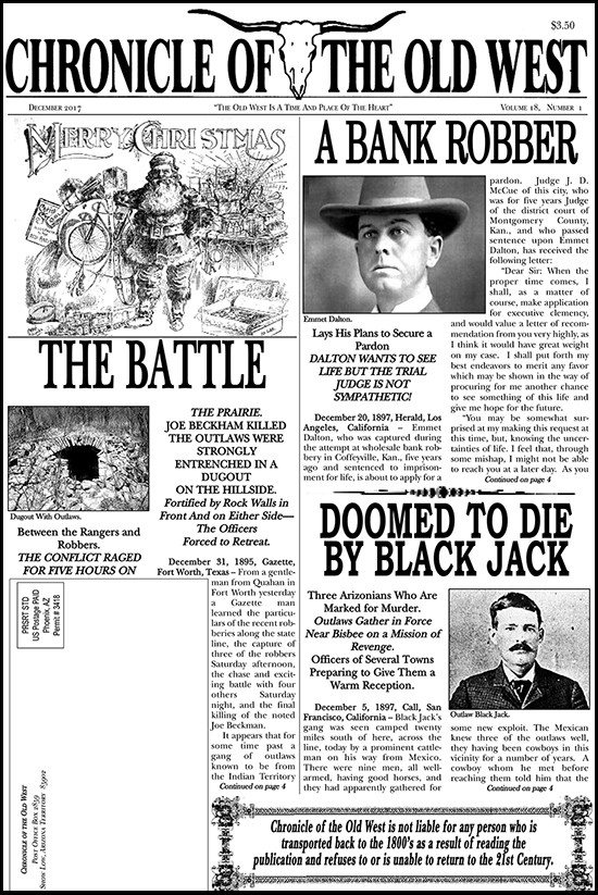 December 2017 Chronicle of the Old West Newspaper