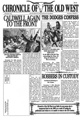 Chronicle of the Old West Newspaper